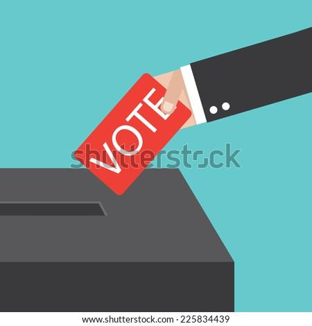 voting - stock vector