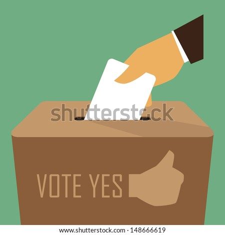 Voting at the Ballot Box - stock vector