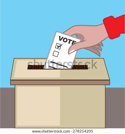 Voting Box.  - stock vector