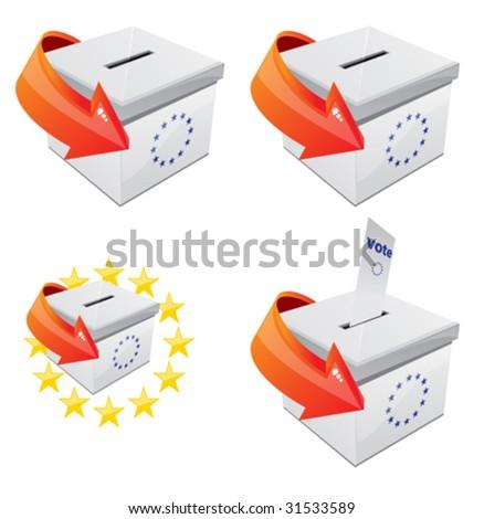 Voting Box 1 - stock vector