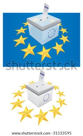 Voting Box 3 - stock vector