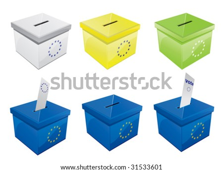Voting Box 5 - stock vector