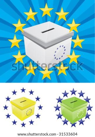 Voting Box 6 - stock vector