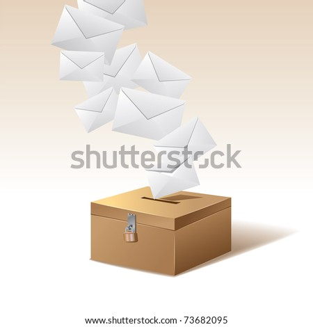 voting box and vote - stock vector