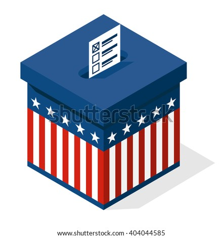 Voting box Elections in USA vector illustratation - stock vector