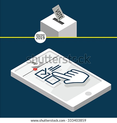 Voting concept - ballot box - stock vector