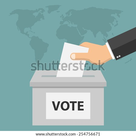Voting concept in flat style - stock vector