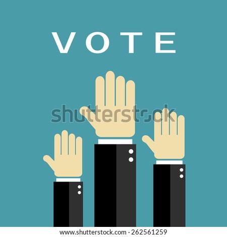 Voting hands - stock vector