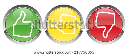 voting red-yellow-green - stock vector