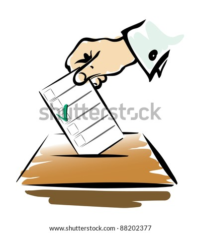 voting symbol isilated illustration - stock vector