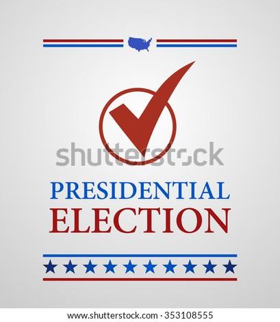Voting Symbol presidential election - stock vector