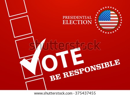 Voting Symbols design presidential election vector illustration - stock vector