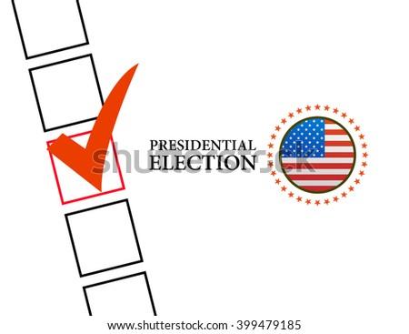 Voting Symbols vector design presidential election - stock vector
