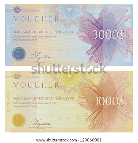 Voucher / coupon - stock vector