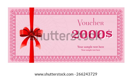 Voucher gift certificate coupon template gift stock vector voucher coupon template gift certificate yadclub Choice Image