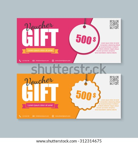 Voucher, Gift certificate, Coupon template. - stock vector