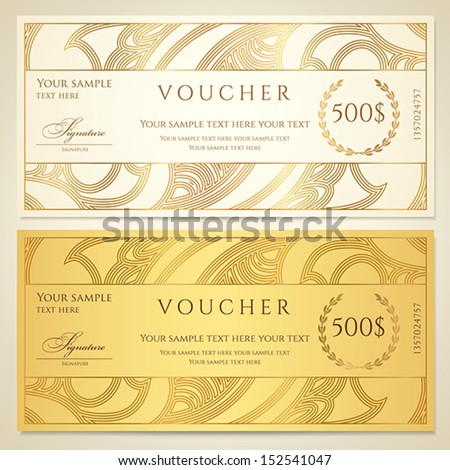 Voucher gift certificate coupon template floral stock vector hd voucher gift certificate coupon template floral stock vector hd royalty free 152541047 shutterstock stopboris Image collections