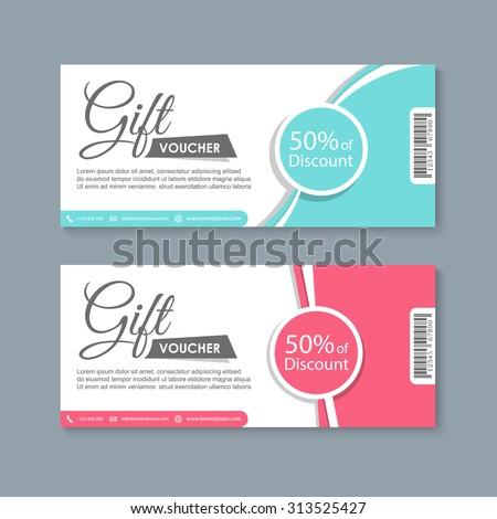 Voucher Gift Certificate Coupon Template Vector Stock Vector