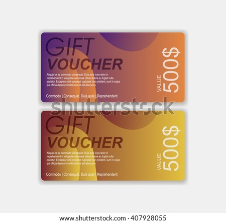 Gift voucher template premium pattern envelope stock for Gift certificate template with logo