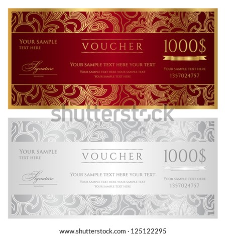 Gift Certificate Images RoyaltyFree Images Vectors – Sample Gift Vouchers