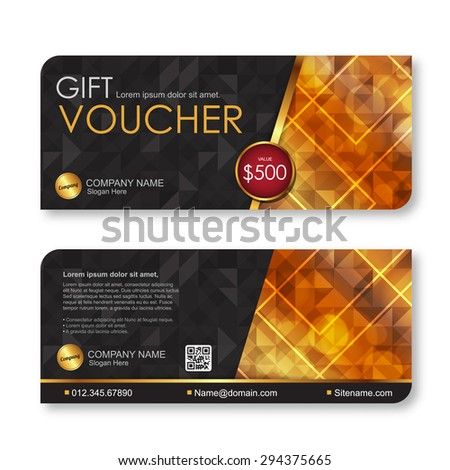 Voucher template with premium pattern. - stock vector