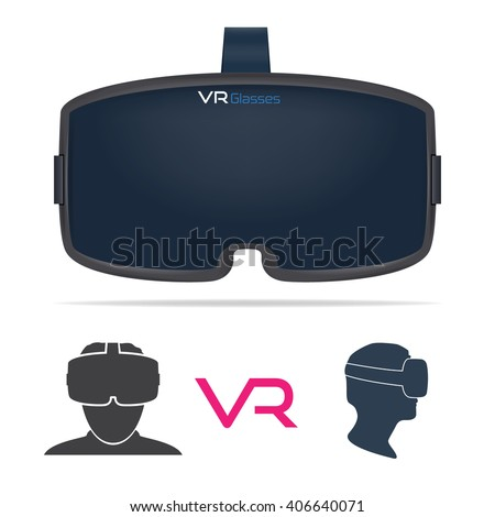 VR Glasses - stock vector