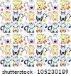 vrctorcats pattern - stock vector