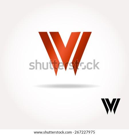 W letter bright colors  logo  - Vector Illustration, easy editable for your design. Business Logo - stock vector