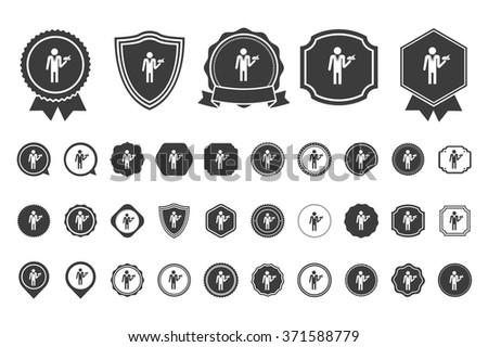 waiter   icon - stock vector
