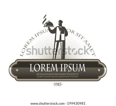 Waiter. Vector format - stock vector