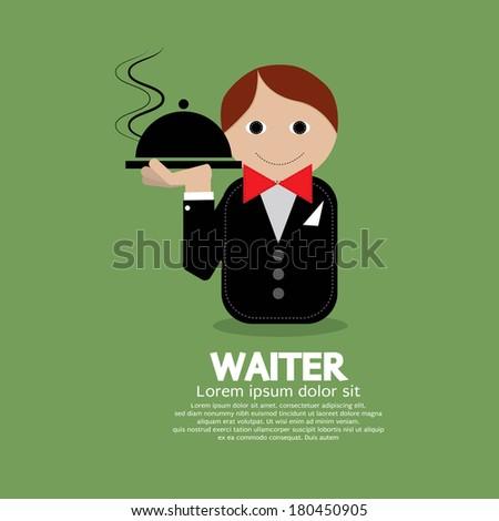 Waiter Vector Illustration - stock vector