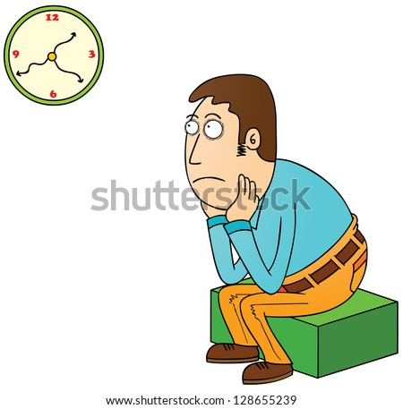 waiting - stock vector