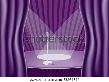 Waiting for the play to start - stock vector