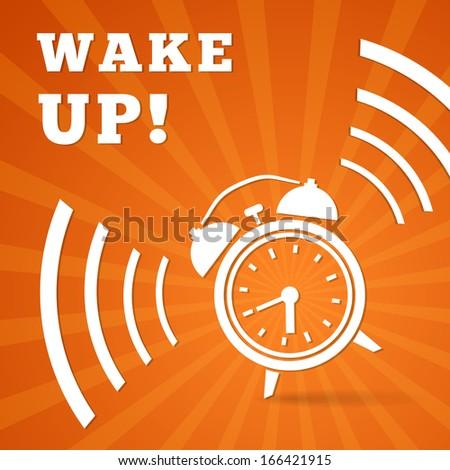 Wake up alarm vector illustration - stock vector