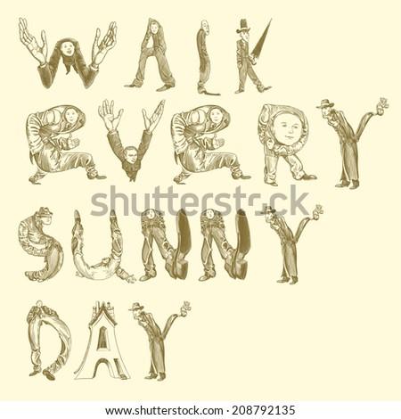 walk every Sunny day.Vector illustration 8 eps - stock vector