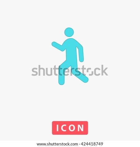 Walk Icon. Walk Icon Vector. Walk Icon Logo. Walk Icon Object. Walk Icon Picture. Walk Icon Image. Walk Icon Graphic. Walk Icon Art. Walk Icon UI. Walk Icon EPS. Walk Icon AI. Walk Icon Drawing - stock vector