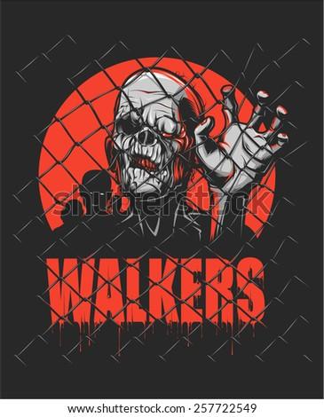 walker - stock vector