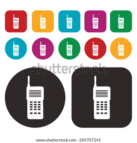 Walkie Talkie icon / Communication icon - stock vector