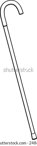 walking cane - stock vector
