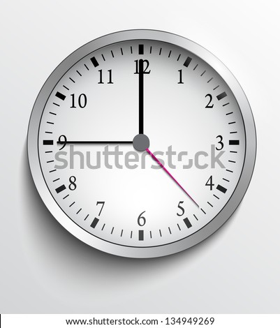 Wall clock - stock vector