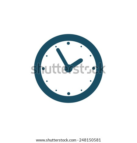 Wall clock icon - stock vector