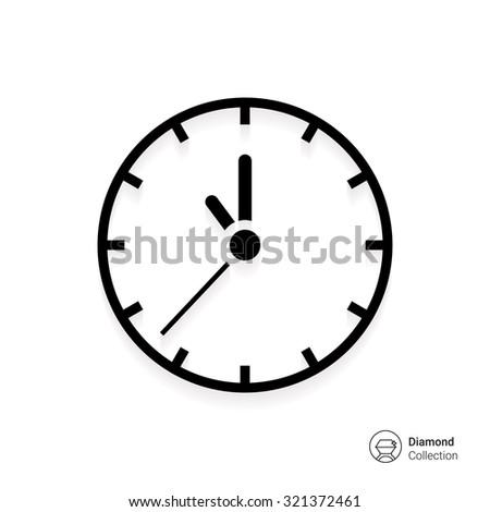 Wall clock icon - stock vector