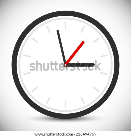Wall clock icon. Instrument of time. Clock sign, symbol - stock vector