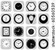 wall clock set - stock photo