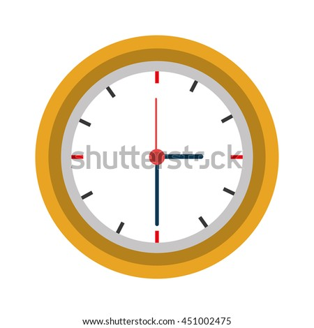 Wall clock time concept design, vector illustration graphic icon.