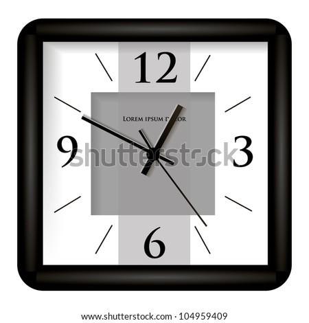 Wall clock. Vector illustration - stock vector