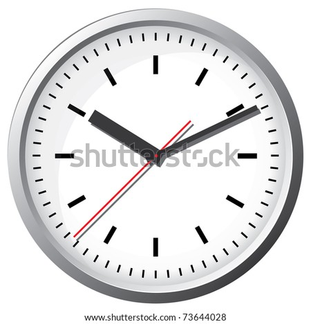 Wall clock. Vector illustration. - stock vector