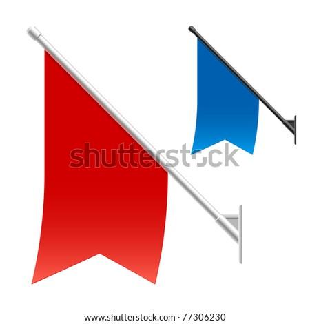 Wall flags. Vector. - stock vector