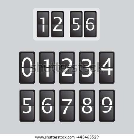 Wall flap counter clock vector template