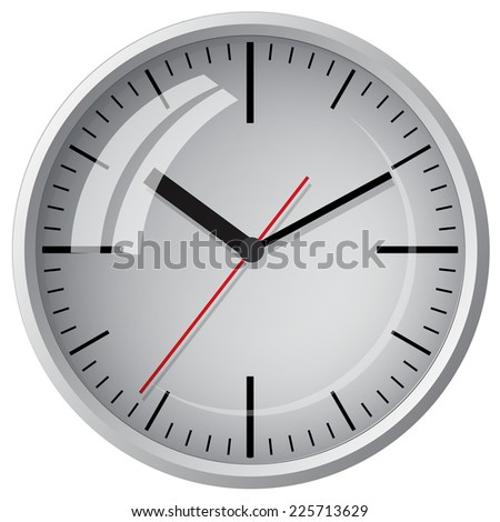 Wall mounted digital clock. Vector illustration. - stock vector